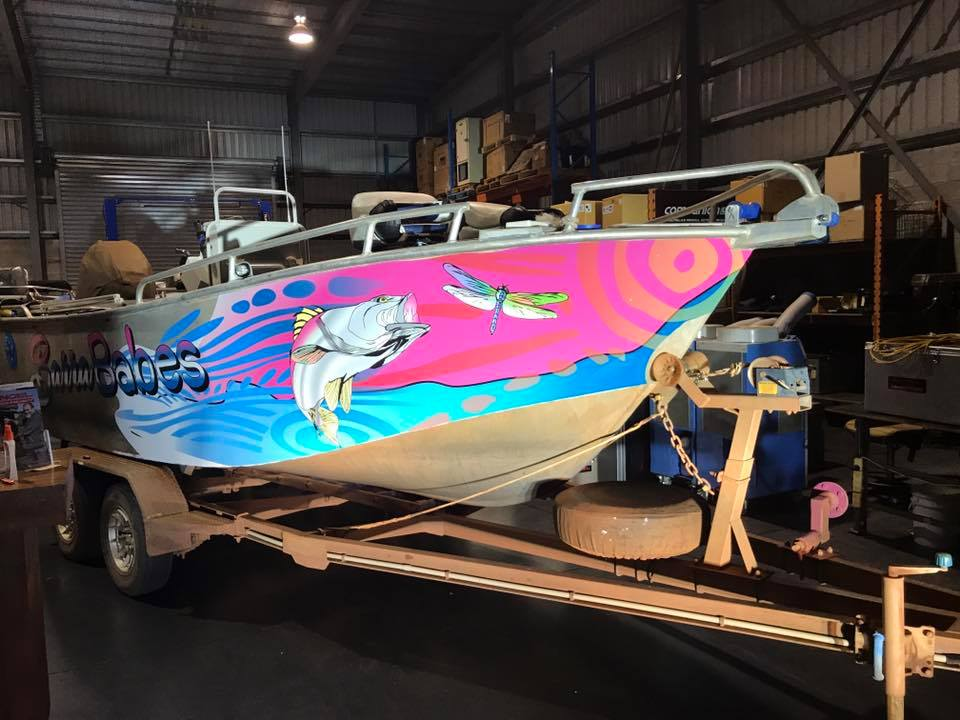 Curbys NT boat wrap